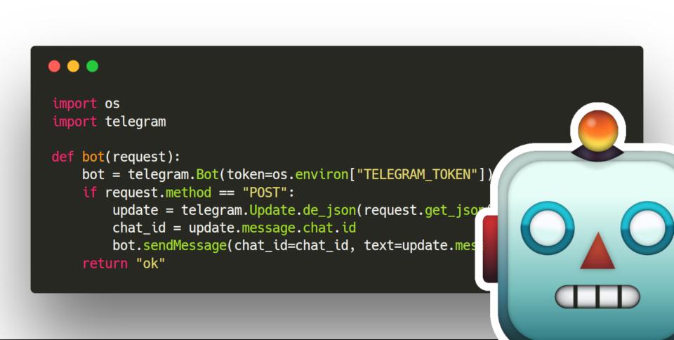 Building a serverless Telegram bot